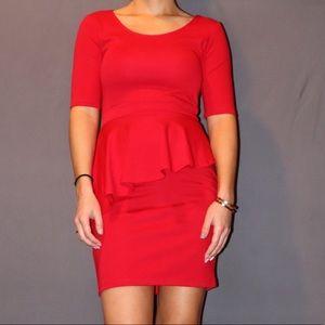 10ec41f1e090e Living Doll Los Angeles · Red Peplum Dress